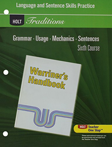 9780030997075: Language and Sentence Skills Practice for Warriner's Handbook, 6th Course (Holt Traditions)