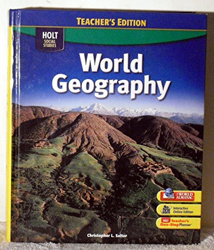 9780030997143: Holt Social Studies: World Geography, 2009, Teacher's Edition
