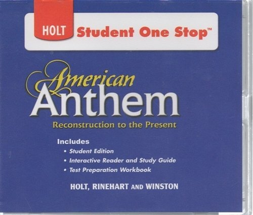 9780030998232: American Anthem: Reconstruction to the Present: Student One-Stop CD-ROM 2009