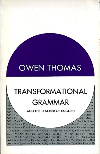 9780039100414: Transformational Grammar and the Teacher of English