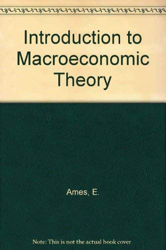 9780039100438: Introduction to Macroeconomic Theory