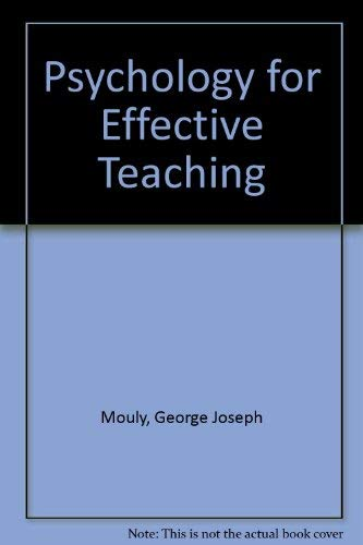 9780039100506: Psychology for Effective Teaching