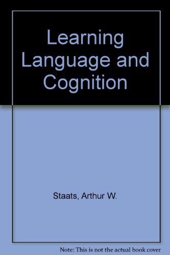 9780039100513: Learning Language and Cognition