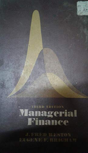 9780039100537: Managerial Finance
