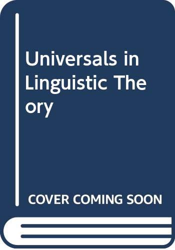 9780039100773: Universals in Linguistic Theory