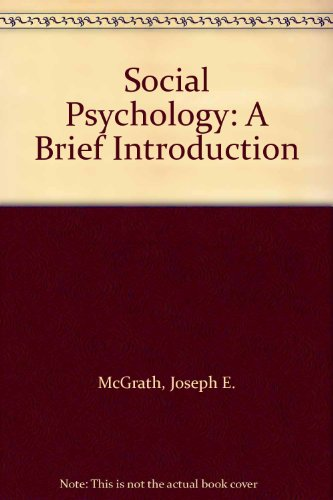9780039100780: Social Psychology: A Brief Introduction