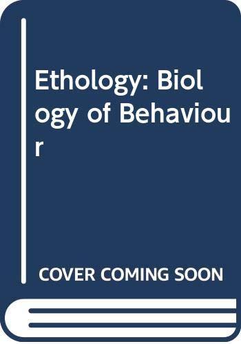 9780039100810: Ethology: Biology of Behaviour