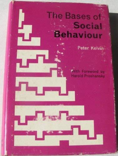 9780039100858: Bases of Social Behaviour