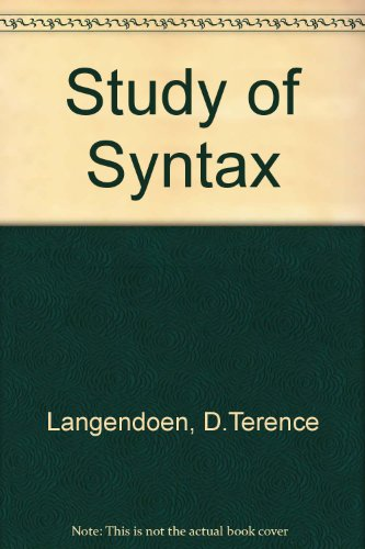 9780039101169: Study of Syntax