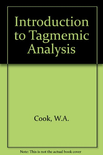 9780039101183: Introduction to Tagmemic Analysis
