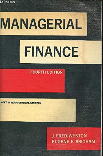 9780039101374: Managerial Finance