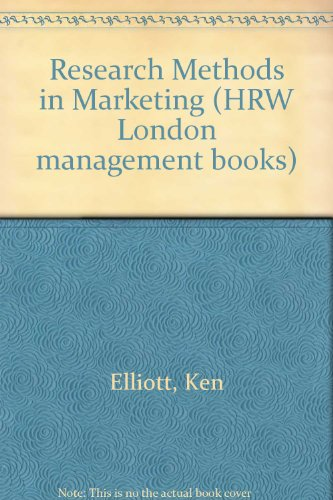 9780039101398: Research Methods in Marketing (HRW London management books)