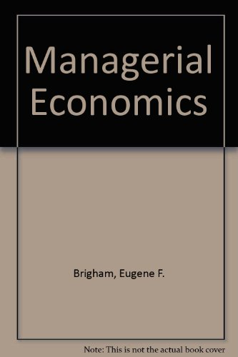 9780039101527: Managerial Economics