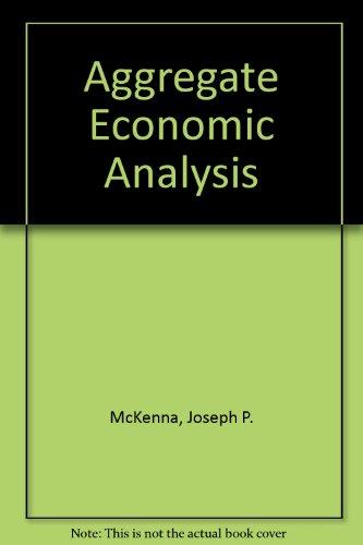 9780039101541: Aggregate Economic Analysis