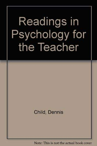 9780039101626: Readings in Psychology for the Teacher