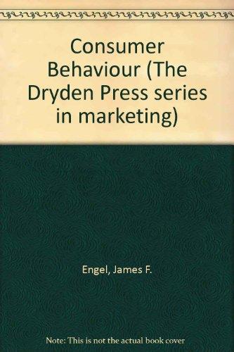 9780039102685: Consumer Behaviour