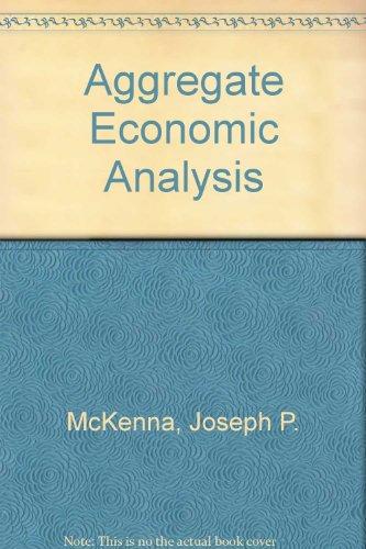 9780039102692: Aggregate Economic Analysis