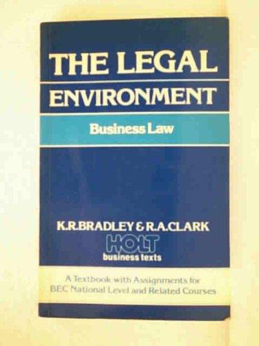 9780039103088: Legal Environment