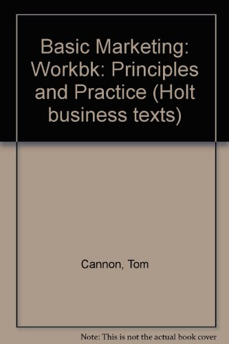 9780039103118: Basic Marketing: Workbk: Principles and Practice