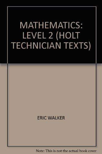 9780039103439: Mathematics: Level 2 (Holt technician texts)