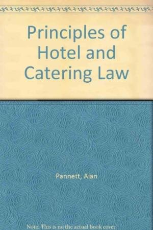 9780039104818: Principles of Hotel and Catering Law