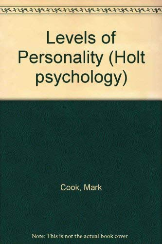 9780039105167: Levels of Personality (Holt psychology)