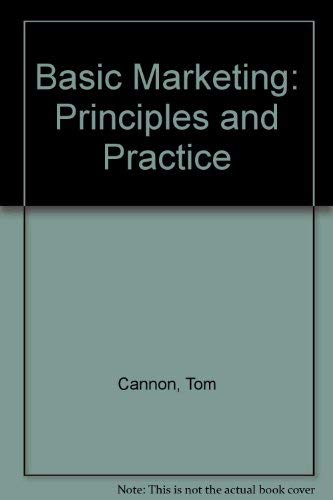 9780039106034: Basic Marketing: Principles and Practice
