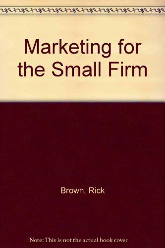 9780039106164: Marketing for the Small Firm