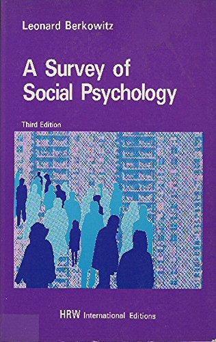 9780039107093: Survey of Social Psychology