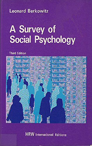 9780039107093: Survey of Social Psychology