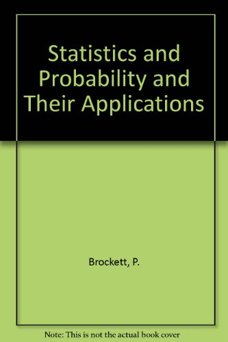 9780039108007: Statistics and Probability and Their Applications