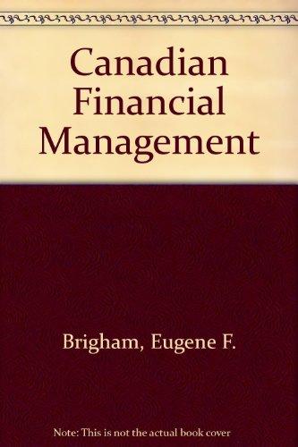 9780039202255: Canadian Financial Management