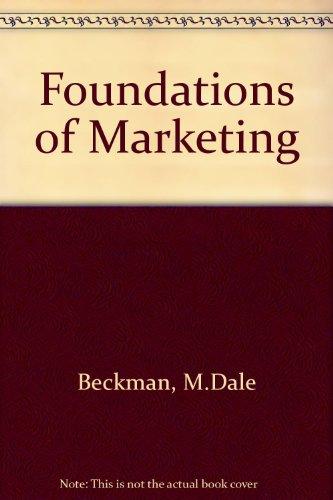 9780039216894: Foundations of Marketing