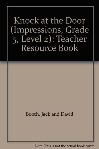 9780039219338: Knock at the Door (Impressions, Grade 5, Level 2): Teacher Resource Book