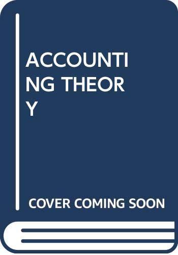 9780039220198: ACCOUNTING THEORY