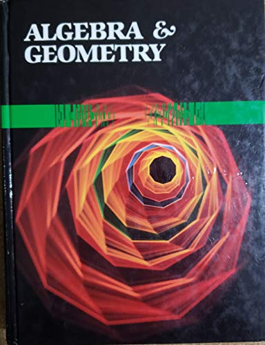 9780039220488: Algebra and Geometry