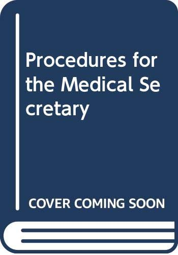 9780039220624: Procedures for the Medical Secretary