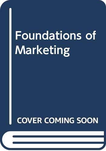 9780039225773: Foundations of Marketing