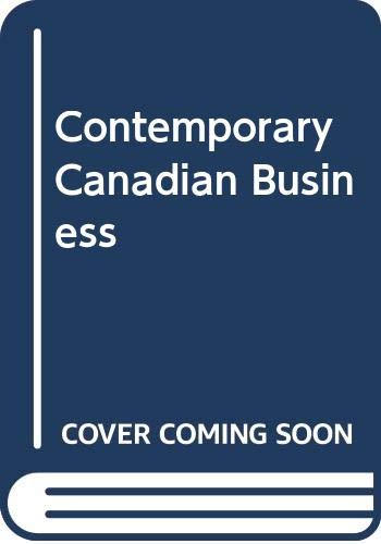 9780039226558: Contemporary Canadian Business