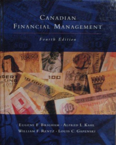 9780039226657: Canadian Financial Management