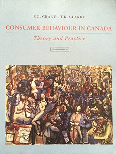 9780039229290: Consumer Behavior in Canada:; Theory and Practice