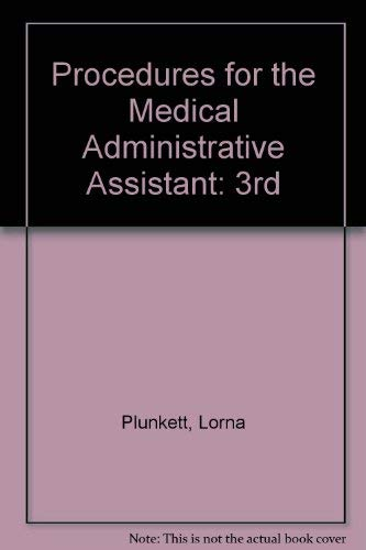 9780039231262: Procedures for the Medical Administrative Assistant