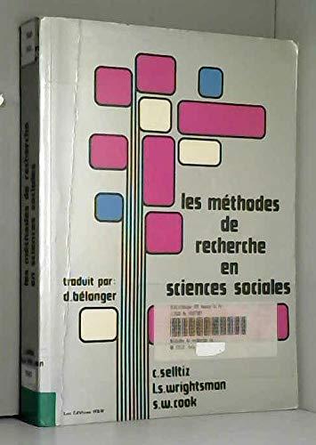 9780039293376: Les M�thodes de recherche en sciences sociales