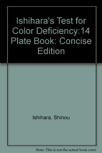 9780039474058: Ishihara's Test for Color Deficiency:14 Plate Book: Concise Edition