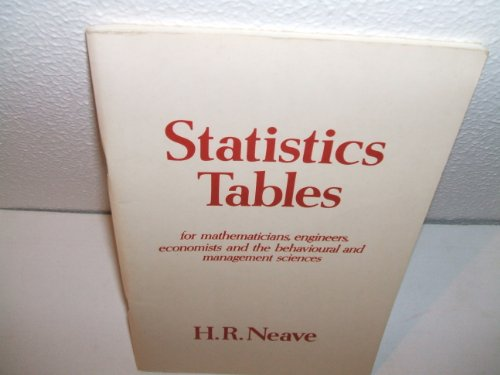 Statistics Tables: Henry R. Neave