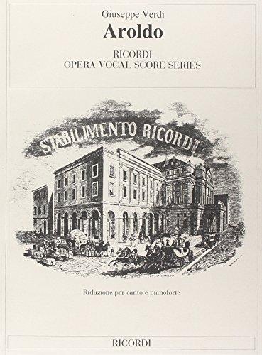 9780040423069: Partition classique RICORDI VERDI GIUSEPPE - AROLDO - CHANT ET PIANO Voix solo, piano