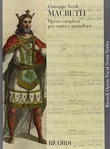 9780040423113: VERDI - Macbeth para Canto y Piano