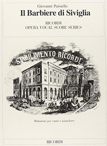 9780040461023: RICORDI PAISIELLO G. - BARBIERE DI SIVIGLIA - CHANT ET PIANO Classical sheets Voice solo, piano