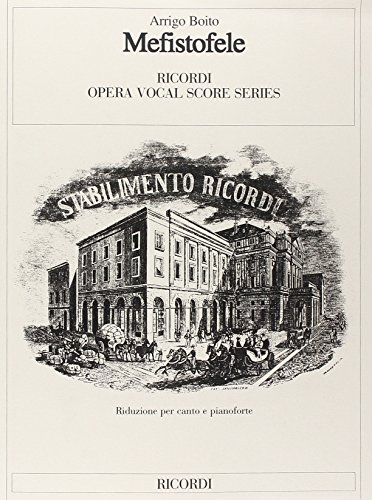 9780040468558: Mefistofele - Vocal and Piano - SCORE