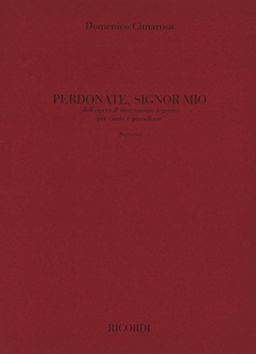 9780040543286: Partitions classique RICORDI CIMAROSA D. - PERDONATE SIGNOR MIO - CHANT ET PIANO Voix solo, piano